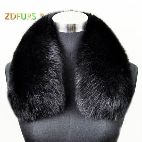 top popular ZDFURS * women's clothing collar accessories fashion fur scarves 100% Real fur collar square ZDC-1630071 2021