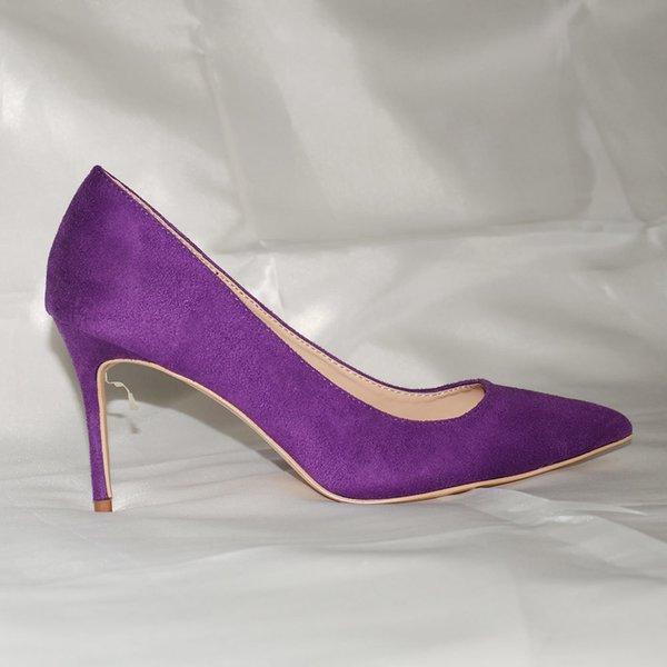 Purple 8cm Heel