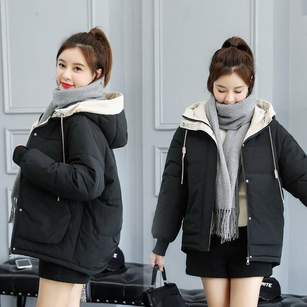 women's winter down jacket 90% white duck down women's light portable hooded coat warm coat casual windproof parka, Black