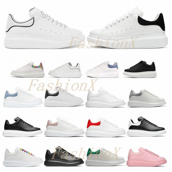 top popular [With Box] designers man womens espadrilles flats platform oversized sneaker shoes espadrille genuine Leather Suede Lace Up sneakers 2020# 2021