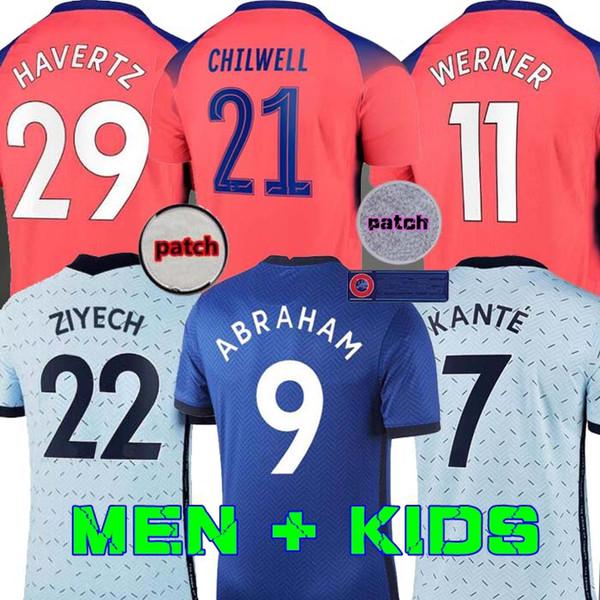 top popular 20 21 soccer jerseys ABRAHAM WERNER HAVERTZ CHILWELL ZIYECH LAMPARD football shirt PULISIC Camiseta KANTE MOUNT 2020 2021 Men + Kids kit se 2020