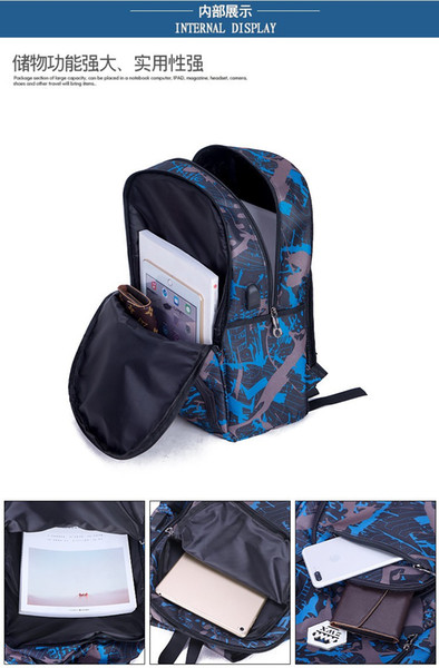 top popular 2022 Cheap outdoor bags camouflage travel backpack computer bag Oxford Brake chain middle school student bag many colors 2021