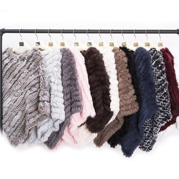 best selling Maylofuer BIG PROMOTION Spring Autumn Genuine Real Knitted Fur Poncho Wrap Scarves Women Natural Fur Shawl