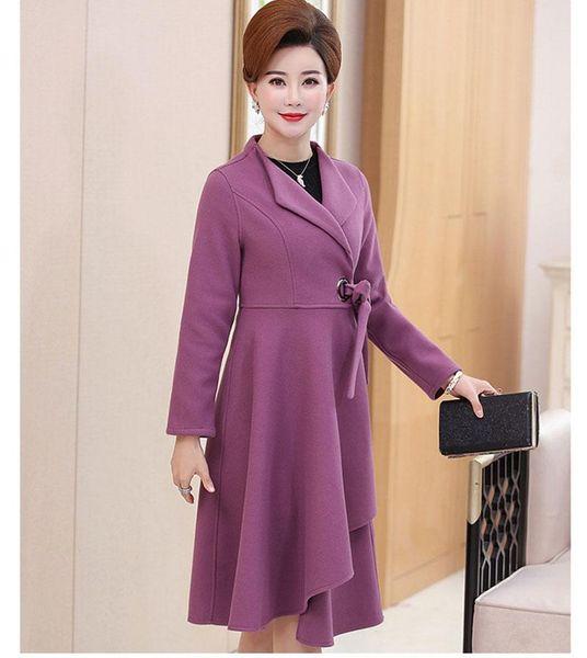 casaco de lã roxa