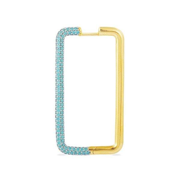 1pc Blau in Gold-