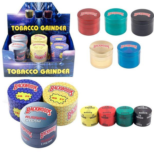 best selling new Cookies Backwoods Grinder SF California Metal Zinc Alloy Smoking 4 Layers 40MM 50MM 55MM 63MM Herb Grinder Tobacco Vape I'm Grinders