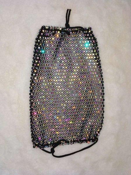 Schwarz ab farbiger Diamant-one-Größe # 38813