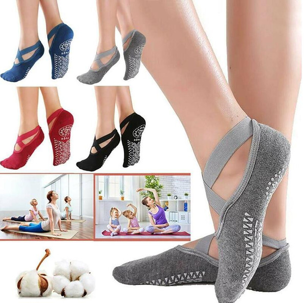 top popular Women's Anti-Slip Fitness Dance Pilates Socks Professional Indoor Yoga Five Toe Backless Exercise Ballet Lady Training Accessory 2021