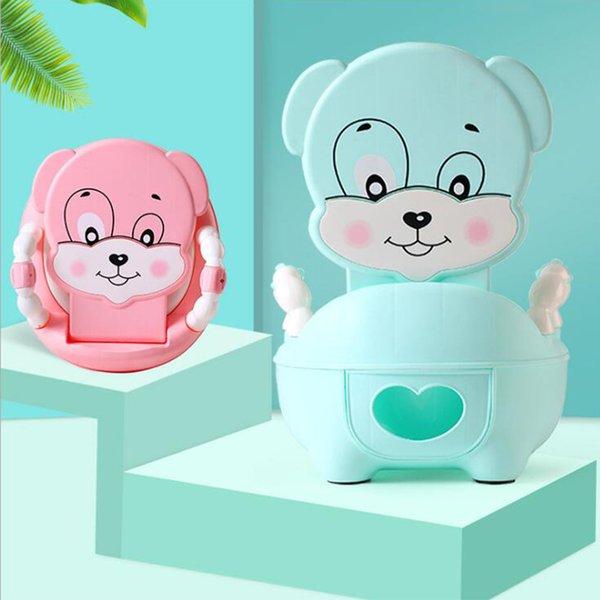 best selling Baby Potty Toilet Bowl Cute Cartoon Training Pan Toilet Seat Children Portable Urinal Comfortable Pot For Newborns Kids Potty LJ201110