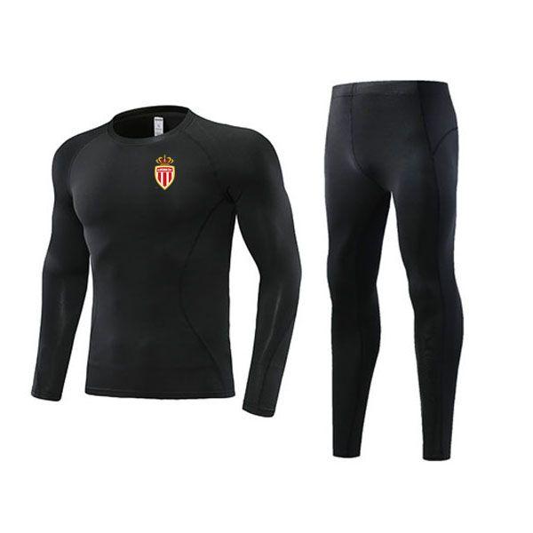 top popular Newest Association Sportive de Monaco Soccer Outdoor Tracksuits Kids Clothing Size22 Men's Athletic Sets Adult Football Warm Suit Size L 2021