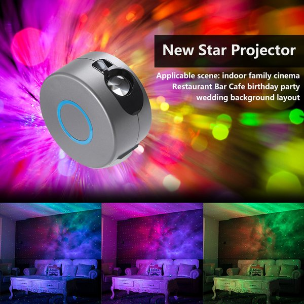 top popular 2021 New Laser Stary Sky Projector Ocean Waving Light Colorful Led Nebula Cloud Night 360 Degree Rotation for Kids Children Gift 61fo 2021