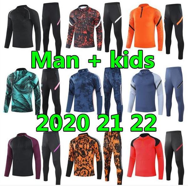 Best 2021 22 chandal futbol mens and kids survetement foot soccer jerseys soccer tracksuit football jersey training suit jakcet tuta