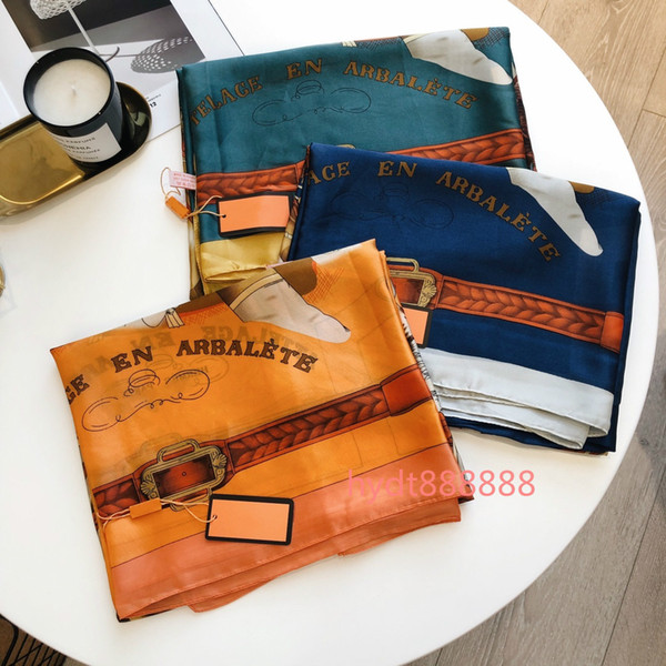best selling 2021 The new most popular wholesale scarf stylish women's sunscreen shawl classic brand printed scarf soft thin scarf 180*90cm HN1
