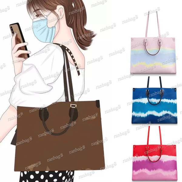 top popular High Quality Women's Versatile Tote Bag with Straps Fashion Onthego Handbag Genuine Leather Shoulder Bag More Colors Lady Crossbody Bags 2020
