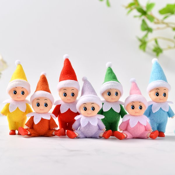 top popular Free DHL 100 PCS Baby Elf Doll with feet shoes Christmas Baby Elf Dolls with Movable arms and legs Baby Toys Kids Elves 2020