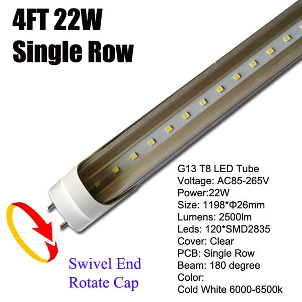22W G13 4Ft LED Tube Clear Cover