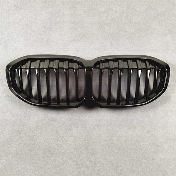 best selling Front Bumper Mesh Grill Grilles For B-MW 1 Series F40 Carbon Look Auto Parts Accessories ABS Material Glossy Black Car Grille