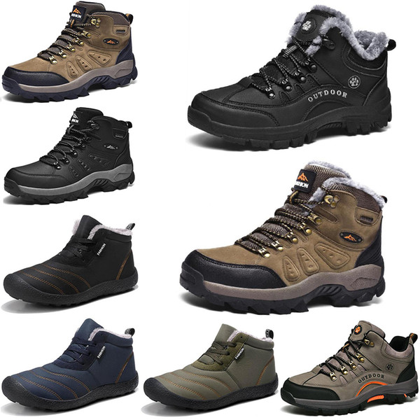 top popular New Winter leisure sports cotton shoes Mens women platform warm and velvet padded snow shoes Outdoor lightweight high top hiking shoes 39-45 2021
