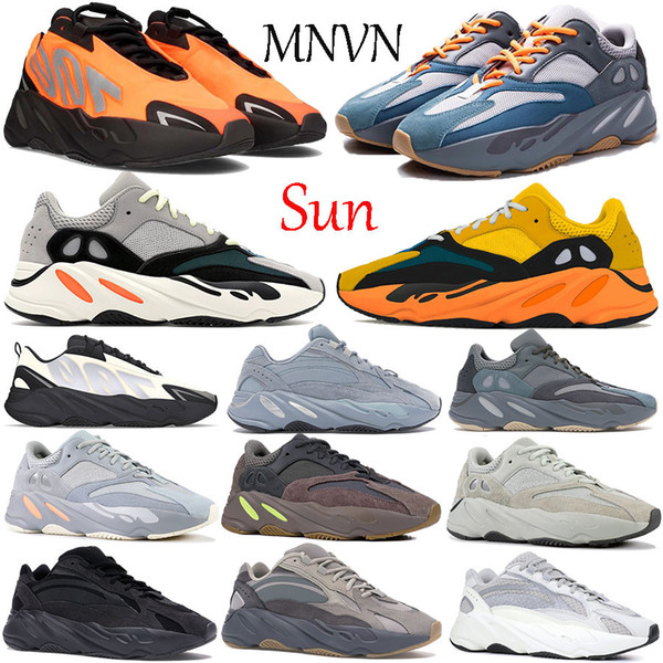New 700 v1 Sun running shoes Solid Grey Carbon Teal Blue orange Bone graffiti Inertia V2 reflective men women sneakers trainers