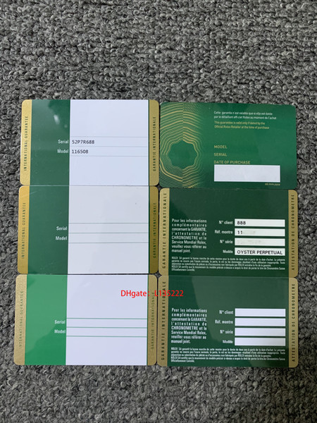 top popular 2020 card security green custom warranty card printing pattern card serial number warranty attention label 2021