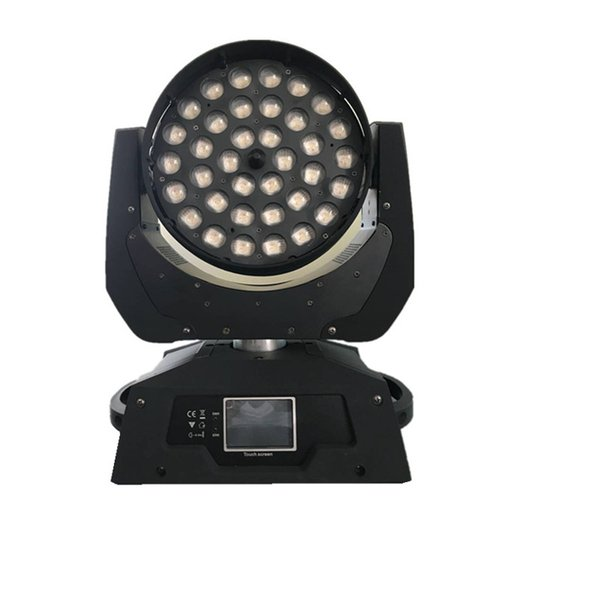 top popular Ring Control Dmx Lyre 36x18 Led Moving Head Wash Zoom Touch Screen RGBWA UV 6in1 Led Zoom Moving Head Light 2021