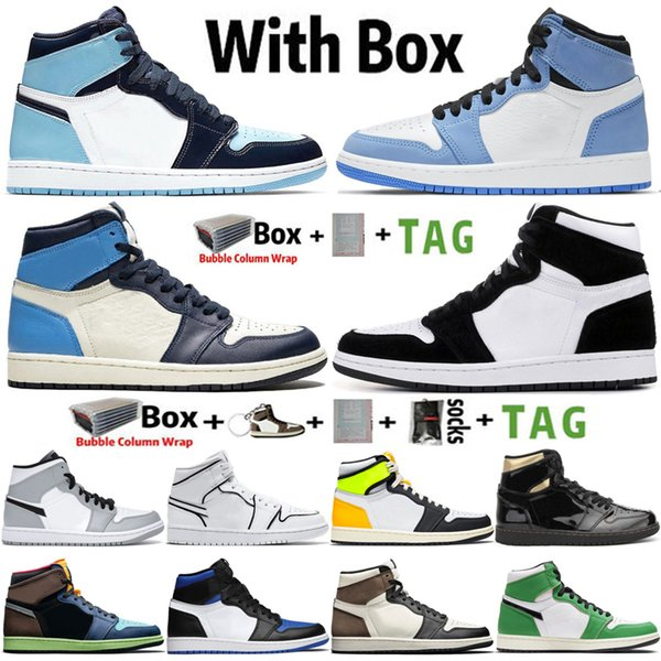 best selling 2021 New Arrival High Jumpman 1 UNC Obsidian University Blue 1s Mens Basketball Shoes Dark Mocha Twist Volt Gold Sneakers Trainers Size 13
