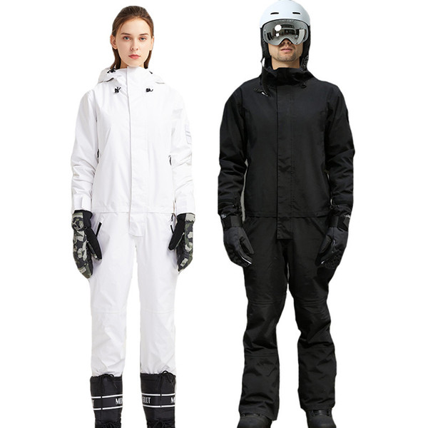 best selling New Jumpsuit Snowboard Waterproof Outerwear High Quality Mountain Snow Men And Women Skiing Jackets +Pants Outdoor Ski Suits 201203