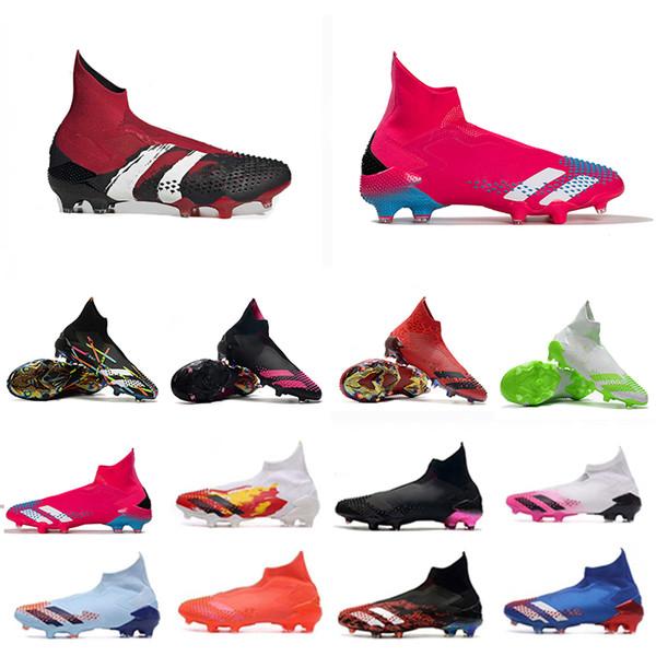 best selling Football Boots Soccer Shoe Dragon Mutator Predator 20+ FG Burgundy Human Race Pharrell Williams Pogbas Uniforia Pack Locality Cleats Sneaker