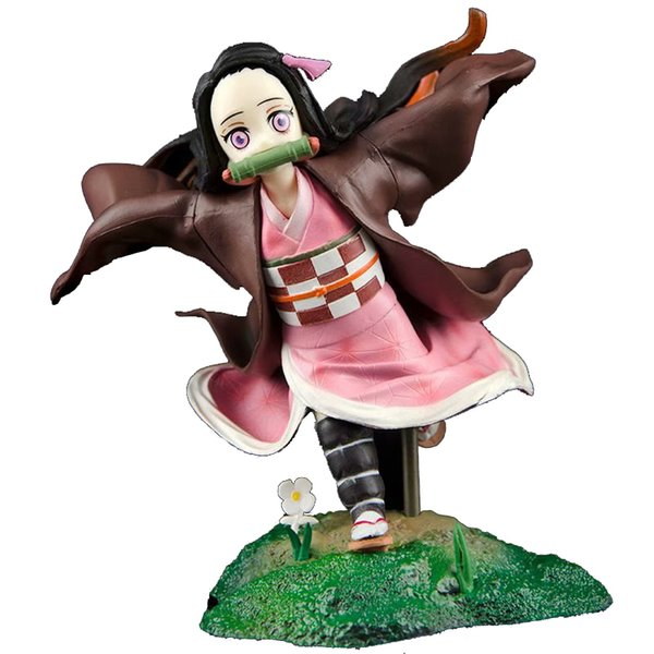 best selling Demon Slayer GK Kamado Nezuko Anime Action Figure Model Toys For Children Cute Girl Collection 14CM PVC Desktop Decoration Figma X0121