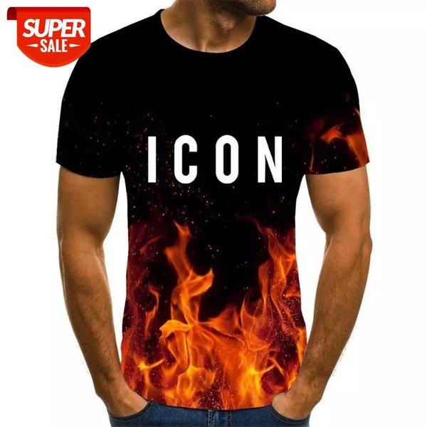best selling ICON style men's T-shirt 3D creative cloud graphic T-shirt summer casual tops fashion round neck shirt plus size streetwear #sz1j