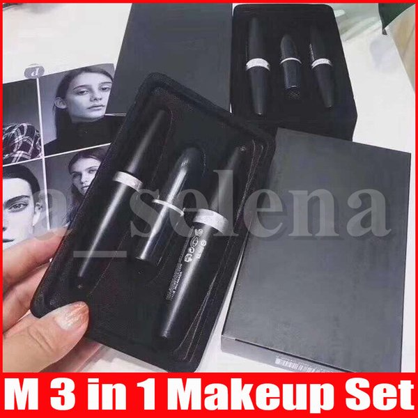 best selling Face Makeup 3 in 1 Kollection Make Up set Cool Black Eyeliner Mascara Matte Lipstick lip Kit