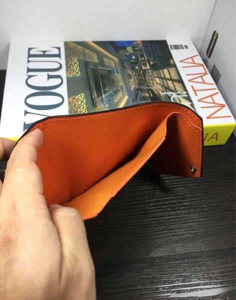 best selling Top quality women original box purses real leather multicolor short wallet Card holder classic zipper pocket designer wallets