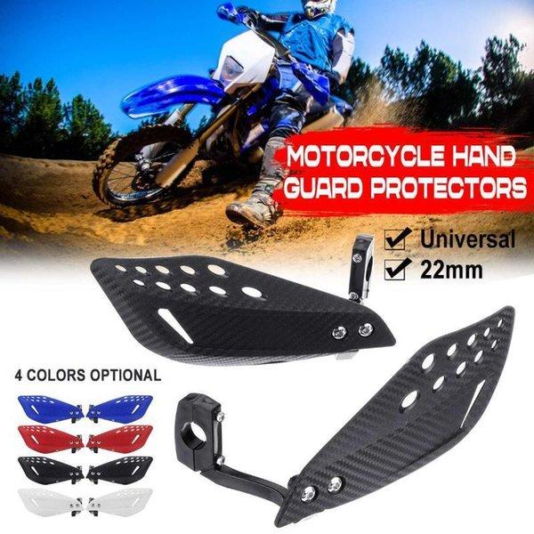 top popular 1 Pair 22MM Motorcycle Hand Guard Handguard Shield Dirt Bike Motorbike Motocross Universal Protector Protective Gear1 2021