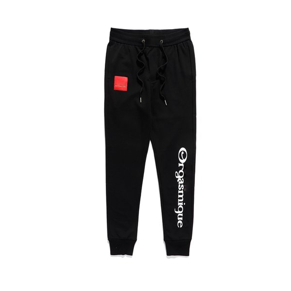 best selling 19SS designer Pants for Men Fashion Drawstring Relaxed Homme man fashion Luxury clothes Printed letters black White Hip Hop Sweatpants M-2XL