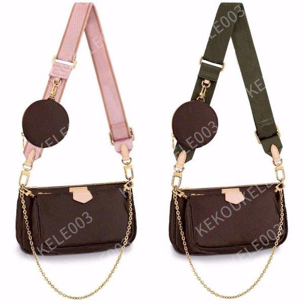 best selling 3 Pcs set Favorite Multi Pochette Accessories Women Crossbody Purse Messenger Bags Handbags Flowers Designers Shoulder Lady Leather bag