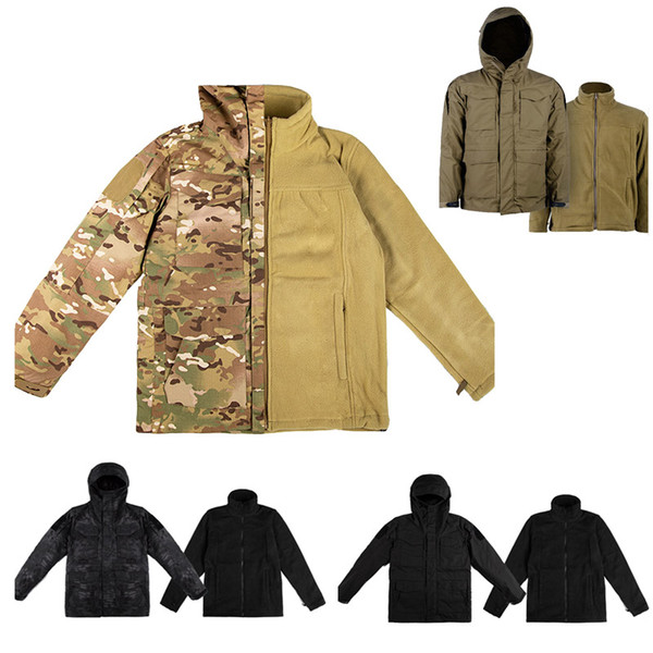 top popular Shooting Coat Tactical Combat Winter Clothing Camouflage Windbreaker Tactical Outdoor M65 Jacket with Warm Clothing NO05-223 2021