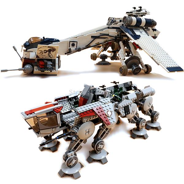 best selling 05053 In stock 1758pcs Creator Republic Gunship Building Blocks Bricks Toys Compatible 10195 Christmas gift