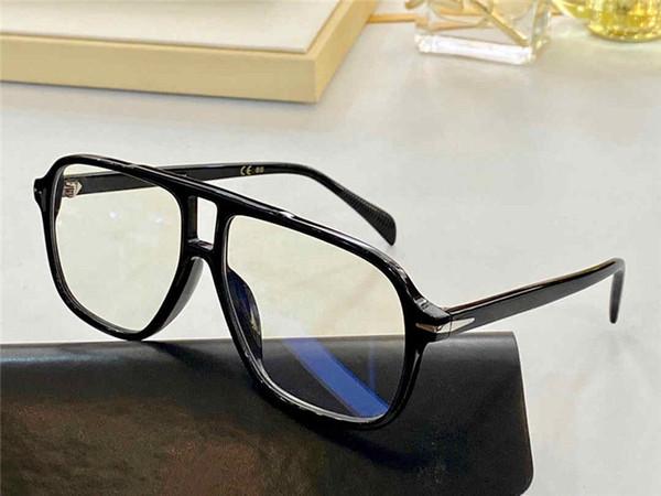 Black frame transparent blue lens