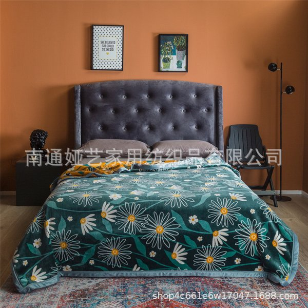 top popular WeChat Hot-Selling Light Luxury Composite Duplex Printing Orange Jack Ma Mink Velvet Cloud Blanket Blanket Sofa Air Conditioner Tailstock Co 2021
