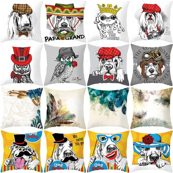 best selling Ins net red cartoon animal series peach fur sofa pillow cover cushion cover household goods