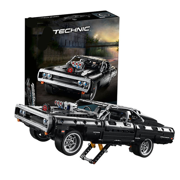 best selling Technic Series Doms Dodged Charger 42111 Building Blocks Bricks Children Car Model Gifts Toys Compatible with lepines 1008