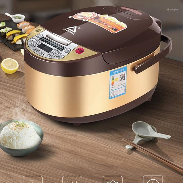best selling 5L Rice Cooker Household Electric Cooking Machine Multi Electric Rice Soup Porridge Steam Cake Large Led Screen cooking pot 20211