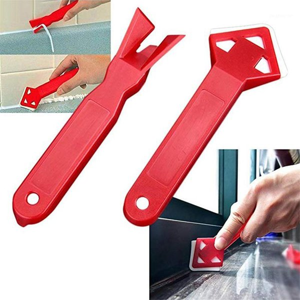 top popular New 2pcs Squeegee Scraps Floor Scraper Angle Cleaner Glass Tile Spatula Glue Remove Shovel Scraper Floor Tool Dropshipping1 2021