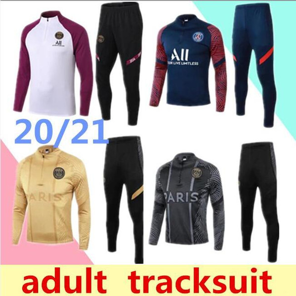best selling free shipping 1819 high quality sportswear 19 new white watermark half zipper training suit men's football sports suit