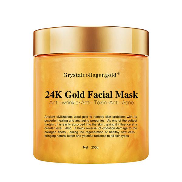 best selling Grystal Collagen Gold Woman's Facial Face Mask 24K Gold Collagen Peel Off Facial Mask Face Skin Moisturizing Firming