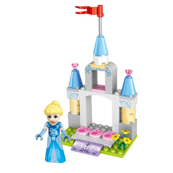 top popular 4 In 1 Princess Castle Castle garden Building-block Toys Compatible with inglys DIY Educating Children Christmas Gifts 2020