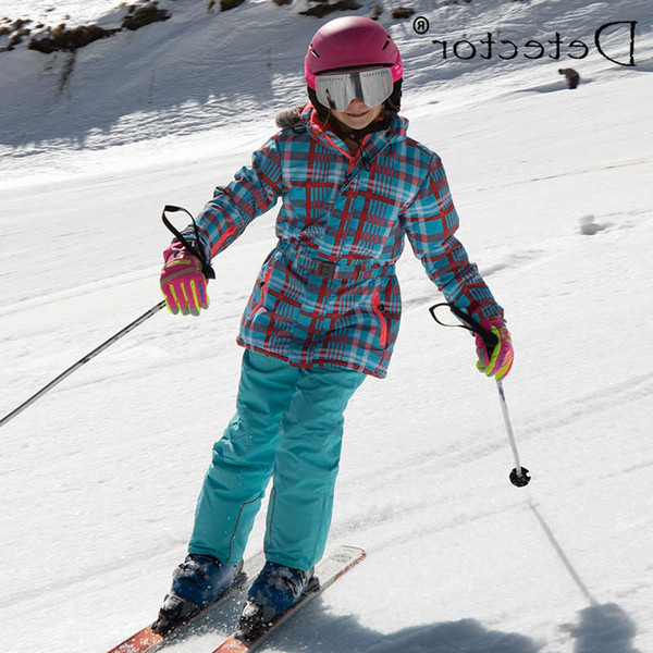 top popular Detector Waterproof Ski Suit for Children Girls Warm Winter Set Kids Windproof Hoodie Snowboard Jacket and Pant Fur Snow Clothes 2021