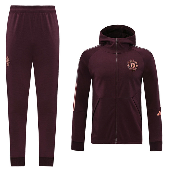 United Dark red Hoodies Jacket