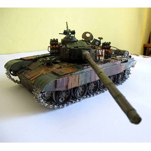 best selling 1:25 3D pt-91 Polish battle main model paper tank cart DIY military collection gift