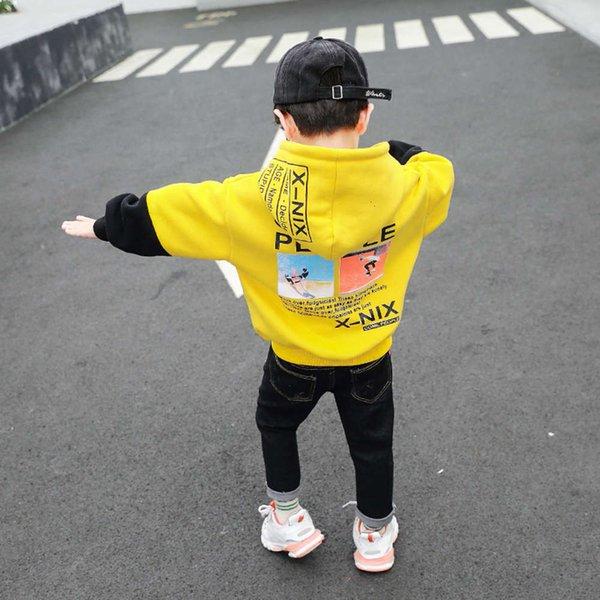 Camisola de correspondência de cor - amarelo